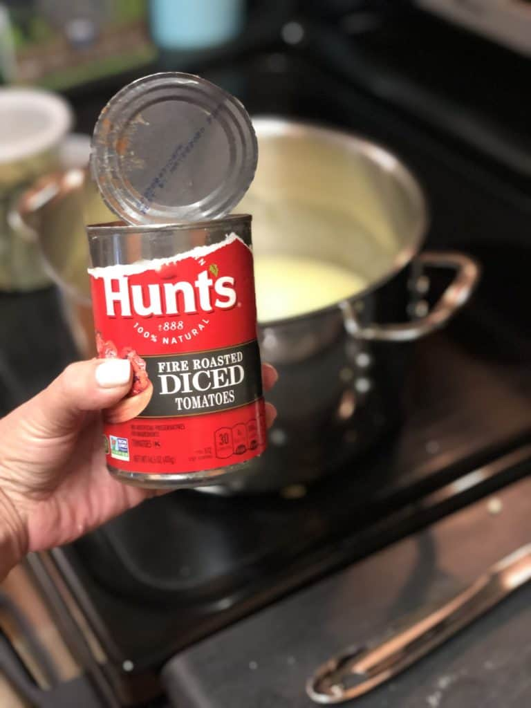 A can of Hunts fire-roasted tomatoes