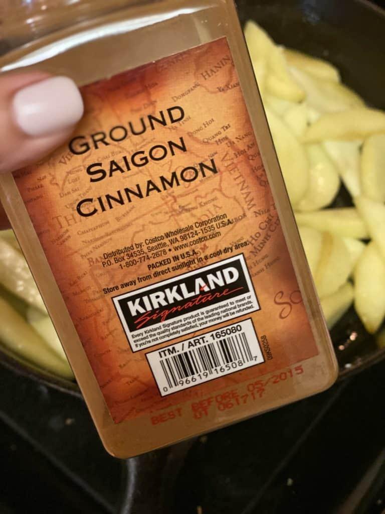 a jar of cinnamon
