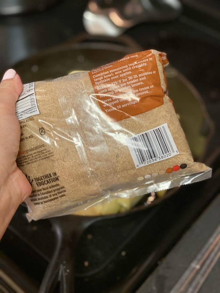 a bag of brown sugar