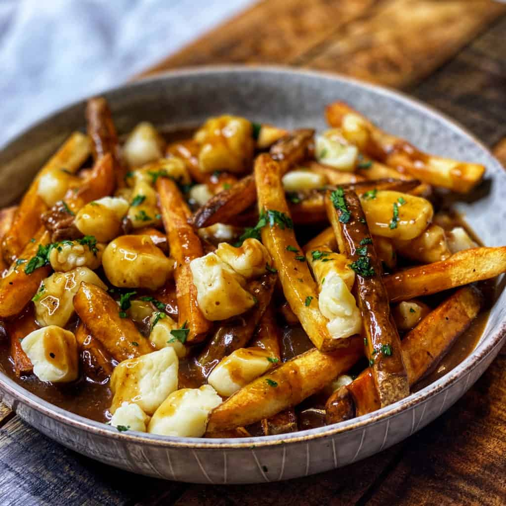 a bowl of Poutine