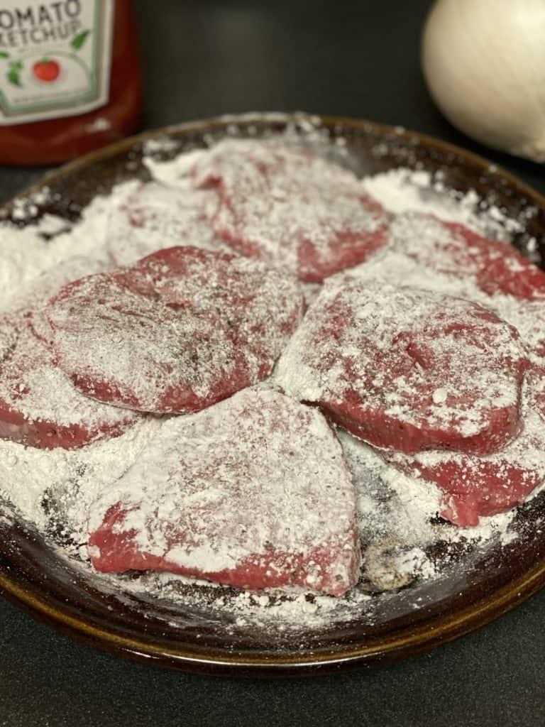 floured steak