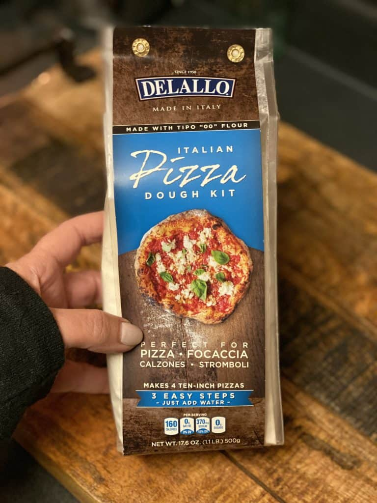 one Delallo's Pizza dough kit