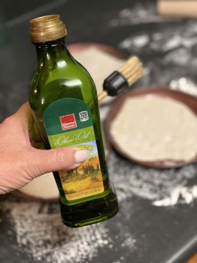 a bottle of olive oil
