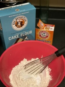 flour mixture for cookies in a bowl