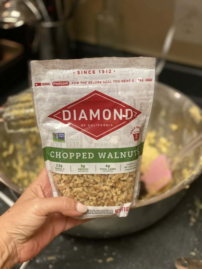 a bag of diamond walnuts