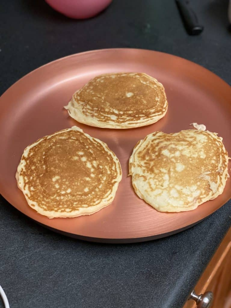 three pancakes