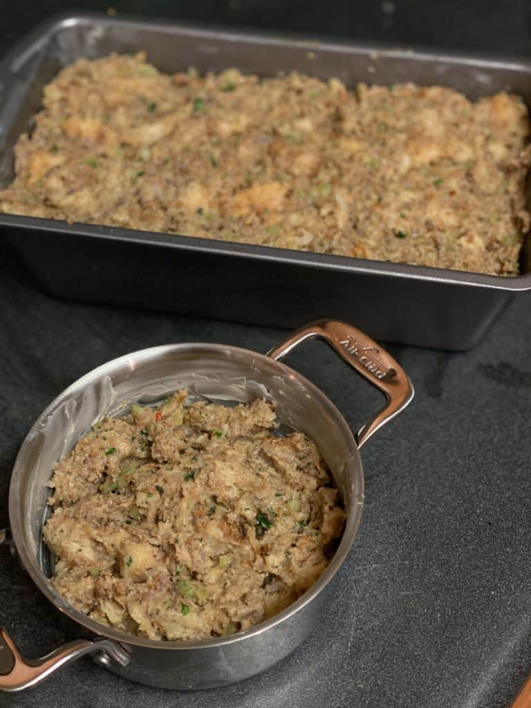 sausage stuffing in pans