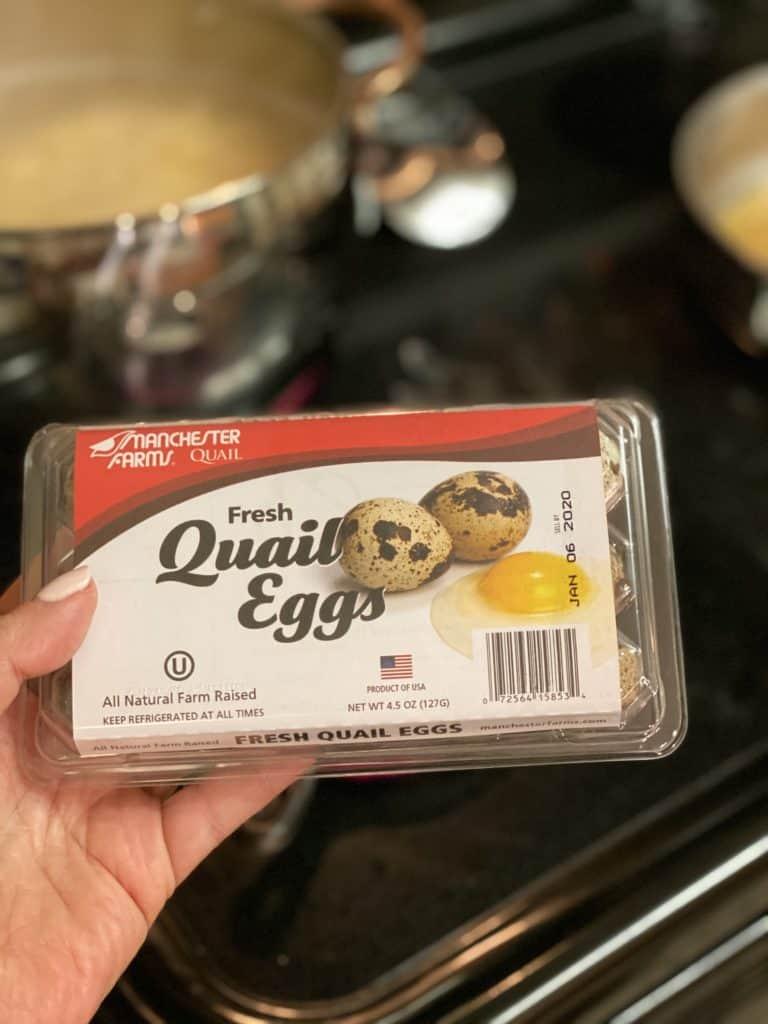 a carton of quail eggs