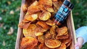 homemade cajun potato chips