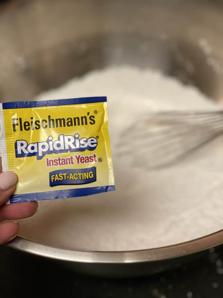 a package of rapid rise yeast