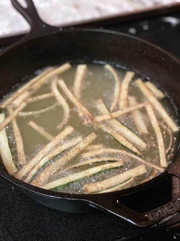 zucchini frying