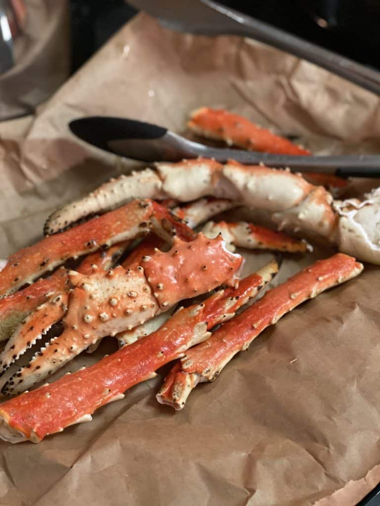 king crab legs cooked