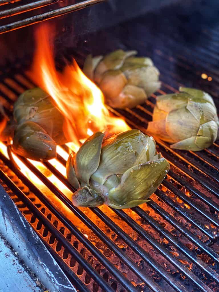 artichokes grilling