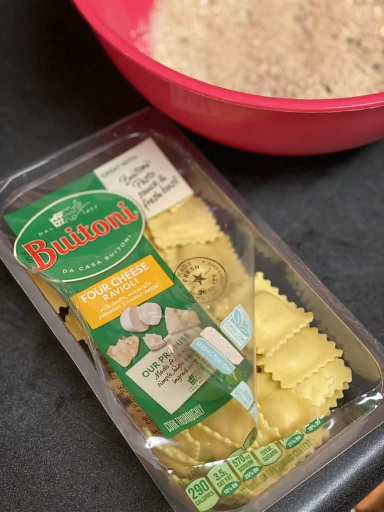 a package of cheese ravioli