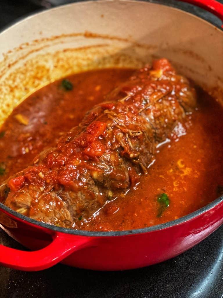 braciole in tomato sauce