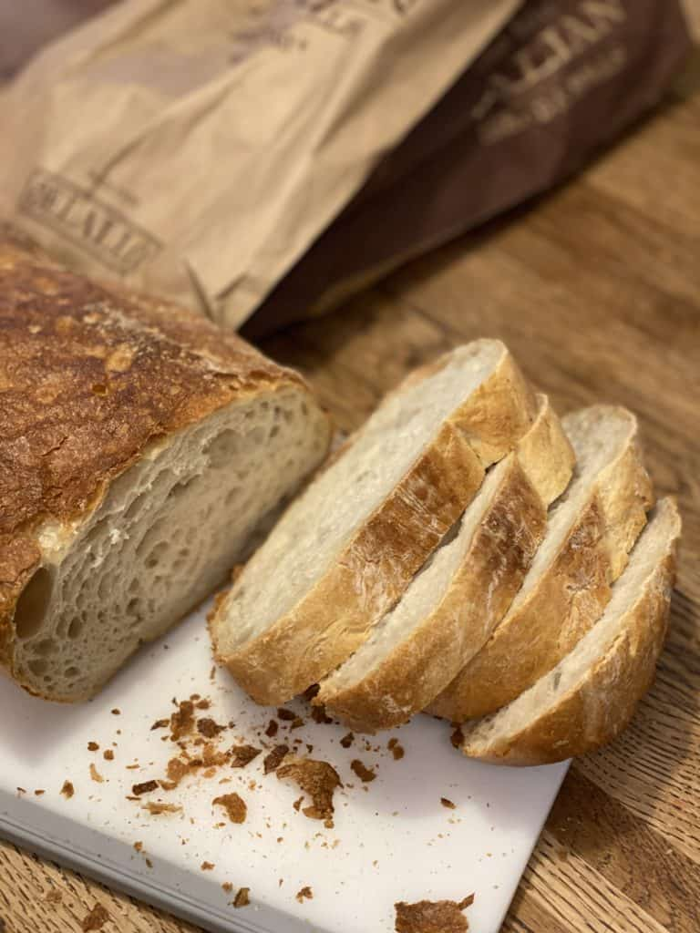 a loaf of Italian bread for the best french toast