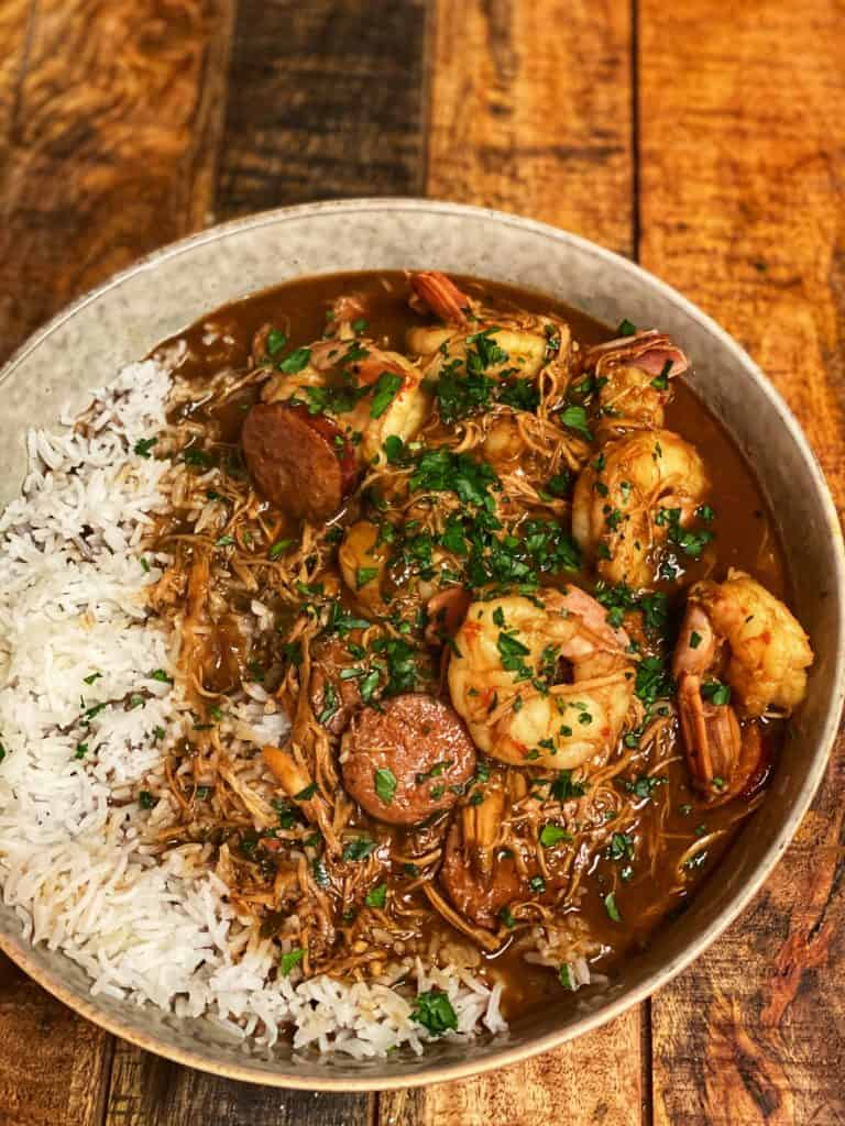 a bowl of the best New Orleans style gumbo