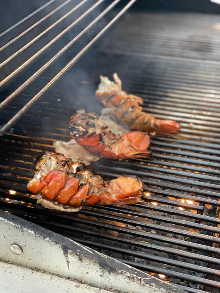 lobster tails grilling