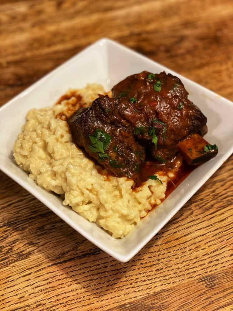 short ribs and risotto