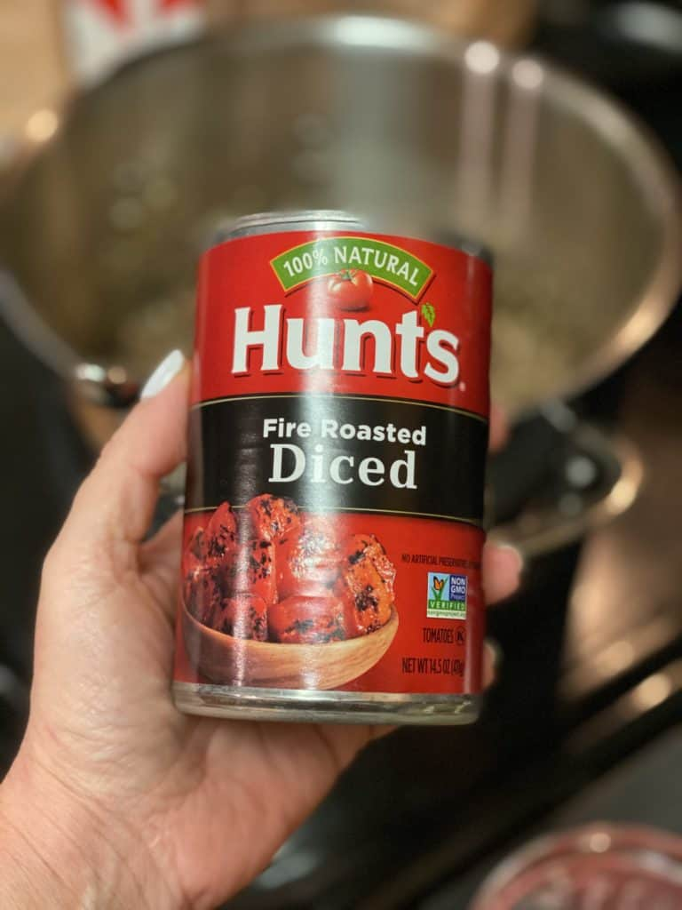a can of fire roasted tomatoes