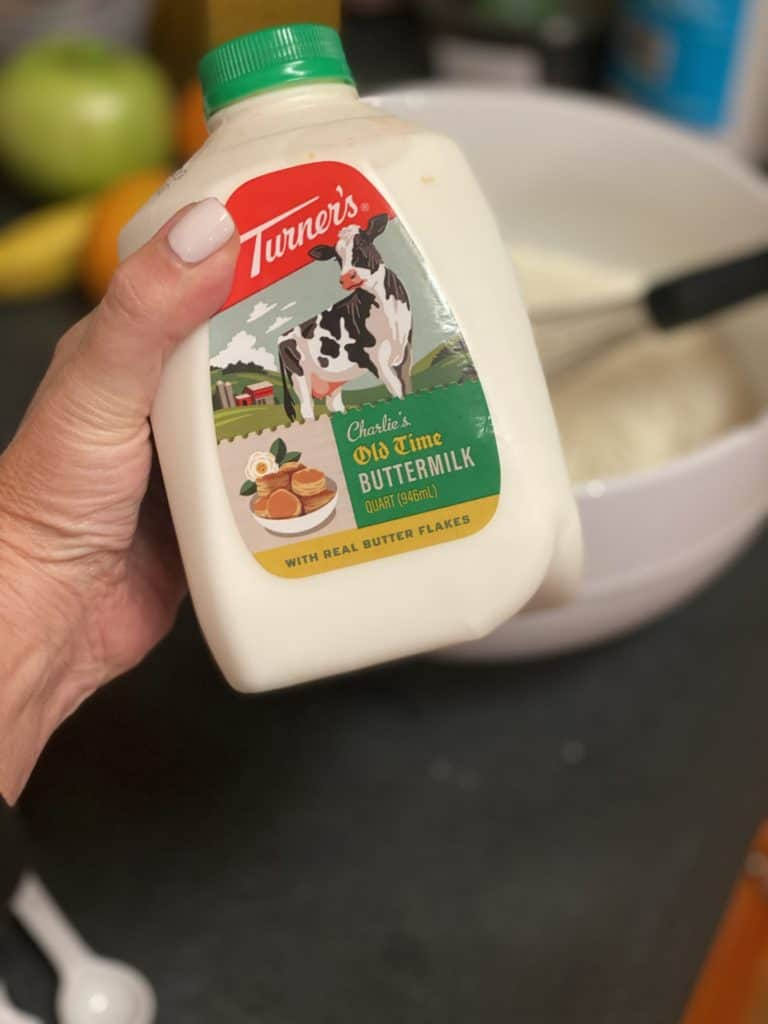 a carton of buttermilk