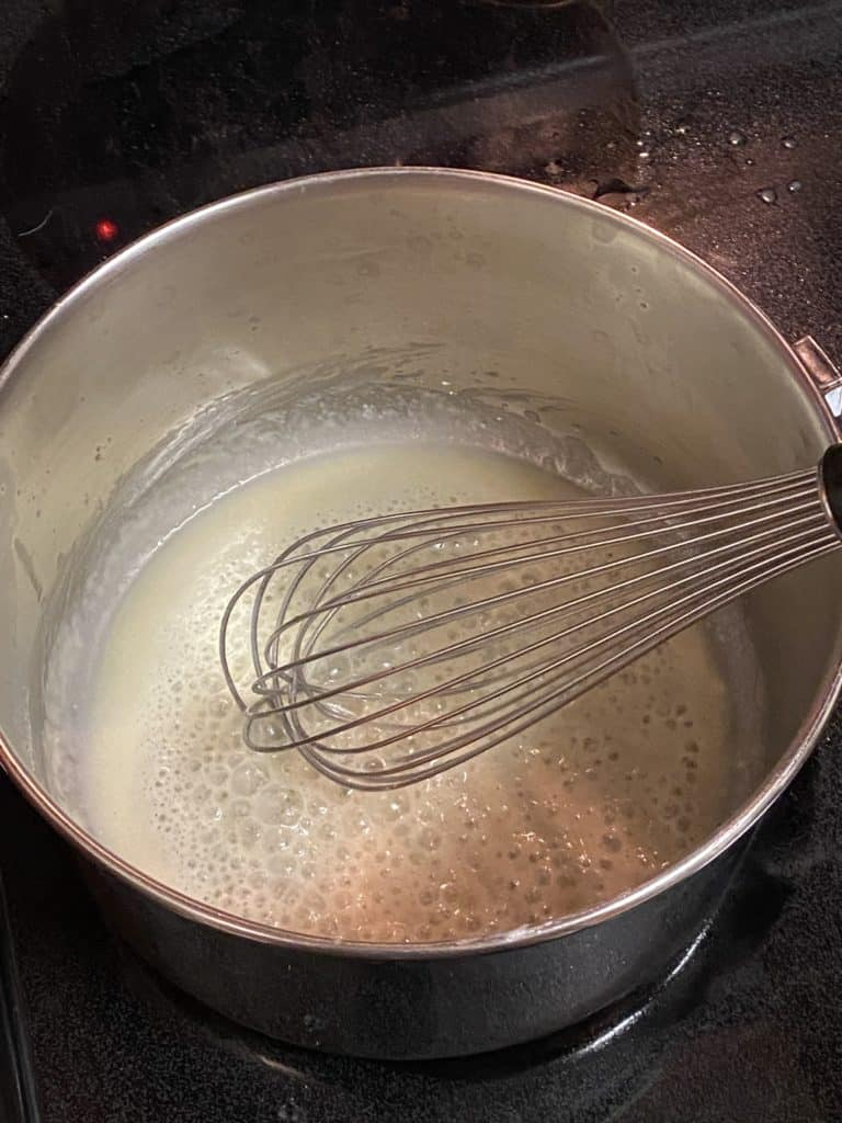 roux in a sauce pan