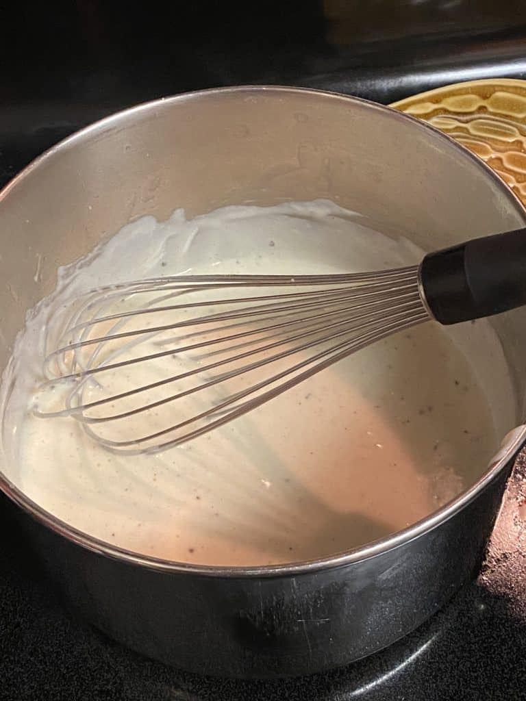 bechamel in a sauce pan