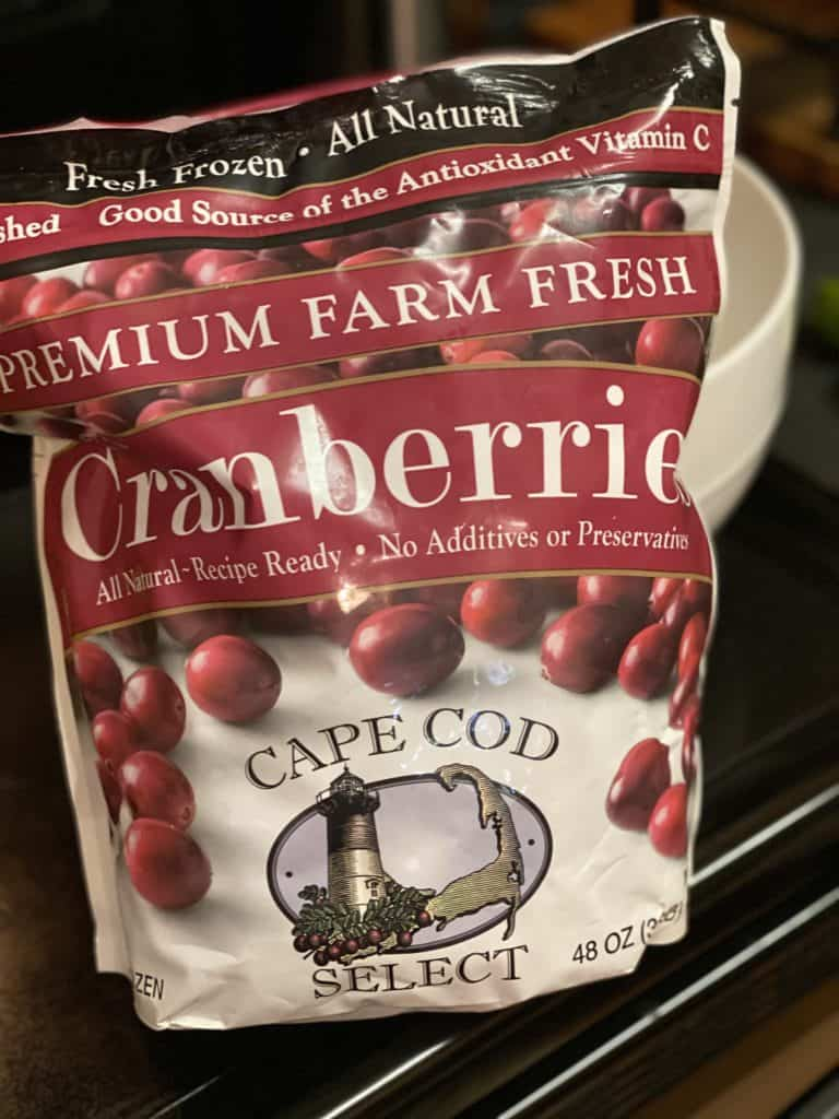 a bag of Cape Cod Select frozen cranberries from Cape Cod Select