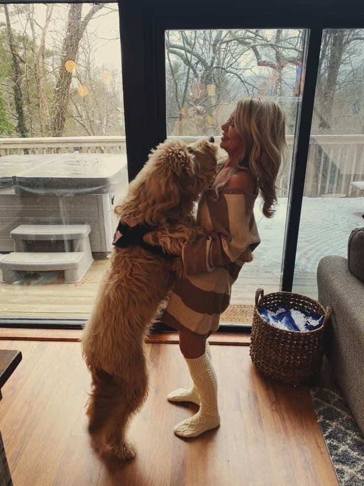 me and my goldendoodle